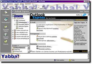Yabba! - Internet Explorer 5 und 6 Outlook Express